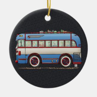 Cute Bus Tour Bus Ceramic Ornament
