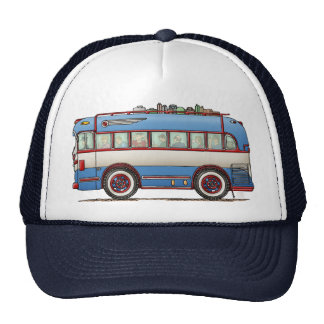 Cute Bus Tour Bus Mesh Hat