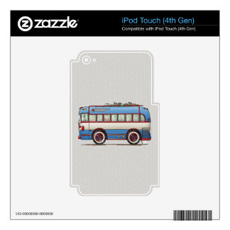 Cute Bus Tour Bus iPod Touch 4G Decals
