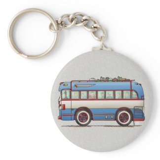 Cute Bus Tour Bus Keychain