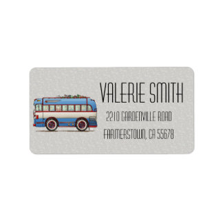 Cute Bus Tour Bus Label