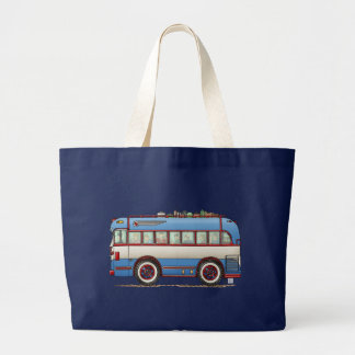 Cute Bus Tour Bus Large Tote Bag