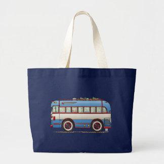 Cute Bus Tour Bus Large Tote Bag