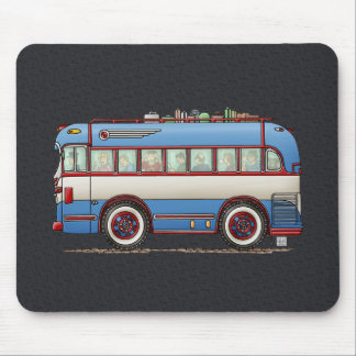 Cute Bus Tour Bus Mouse Pad