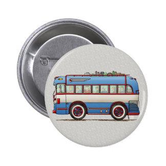 Cute Bus Tour Bus Pinback Button