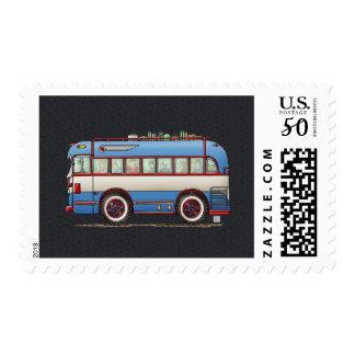 Cute Bus Tour Bus Postage
