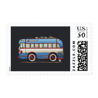 Cute Bus Tour Bus Postage