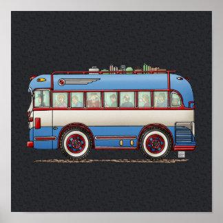 Cute Bus Tour Bus Poster
