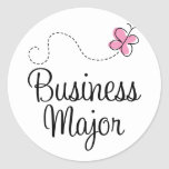 Cute Business Major Round Stickers