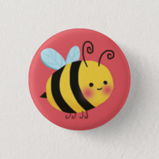 Cute Busy Bumble Bee Button
