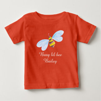 Cute busy little bee painted personalized art baby T-Shirt