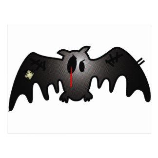 CUTE BUT BLEEDING PATCHY BAT POSTCARD