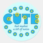 Cute but classic round sticker