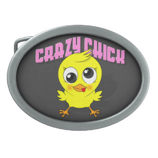 Cute But Crazy Chick - Belt Buckle