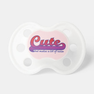 Cute, But Makes a Lot of Noise Pacifier