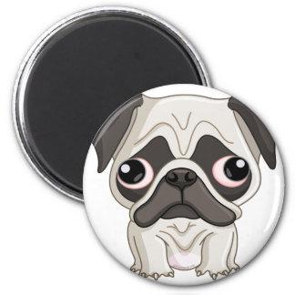 Cute But Sad Pug Puppy Magnet