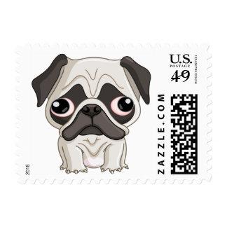Cute But Sad Pug Puppy Postage