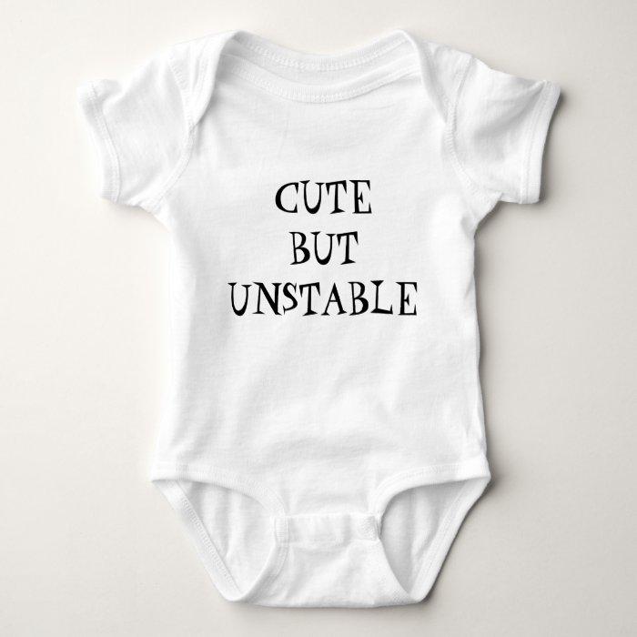 cute but unstable baby bodysuit