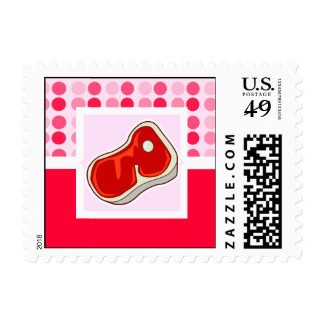 Cute Butcher's Steak Postage Stamps