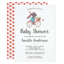 Bicycle invitations pro cycle world cute butterflies and bunny on bicycle baby shower invitation filmwisefo