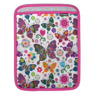 Cute Butterflies And Flowers Pattern Sleeve For iPads