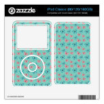 cute butterflies and polka dots girly pattern iPod decal