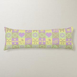 Cute Butterflies, Flowers, Hearts and Swirls Body Pillow