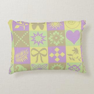 Cute Butterflies, Flowers, Hearts and Swirls Accent Pillow