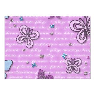 Cute Butterflies Fluttering Background Card