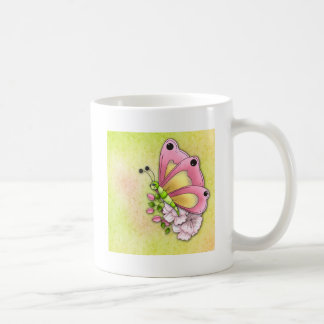 Cute butterfly and flowers coffee mug