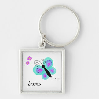 Cute Butterfly and Flowers Keychain