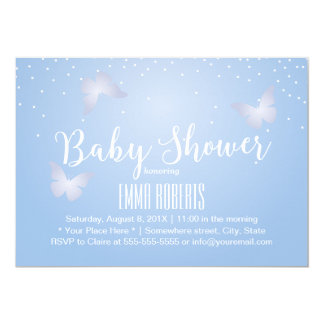 Cute Butterfly & Confetti Dots Pastel Baby Shower Card