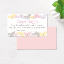 Cute Butterfly Diaper Raffle Tickets