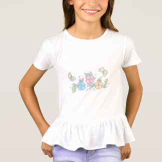 Cute Butterfly Floral Watercolor T-Shirt