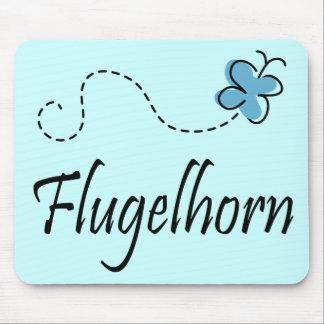 Cute Butterfly Flugelhorn Music Gift Mouse Pad