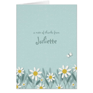 Cute Butterfly Folded Notecard/Thank You Card