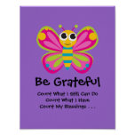 Cute Butterfly Gratitude Poster
