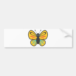 Cute Butterfly Monarch Cartoon Bumper Sticker