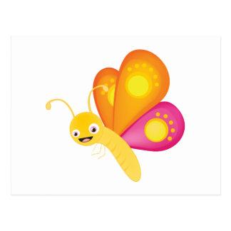 Cute butterfly postcard