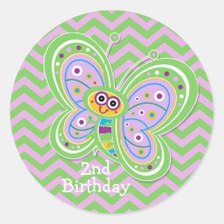 Cute Butterfly Scrapbook Embellishment 4 Classic Round Sticker