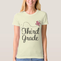 Cute Butterfly Third 3rd Grade T-Shirt