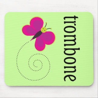 Cute Butterfly Trombone Gift Mouse Pad