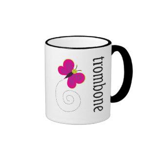 Cute Butterfly Trombone Gift Mugs
