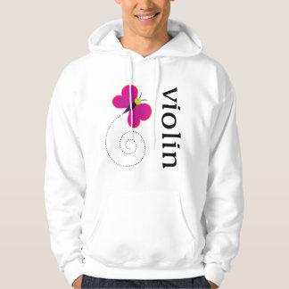 Cute Butterfly Violin Sweatshirt