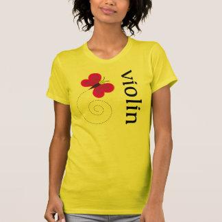 Cute Butterfly Violin T-shirt