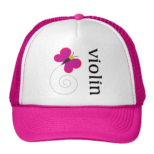 Cute Butterfly Violin Trucker Hat