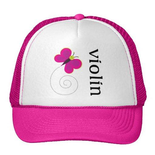 Cute Butterfly Violin Trucker Hat