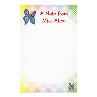 Cute butterfly | with your child's name stationery