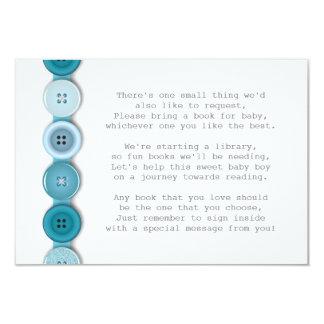 Cute Button Baby Shower Insert Card