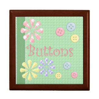 Cute Button Box Jewelry Box